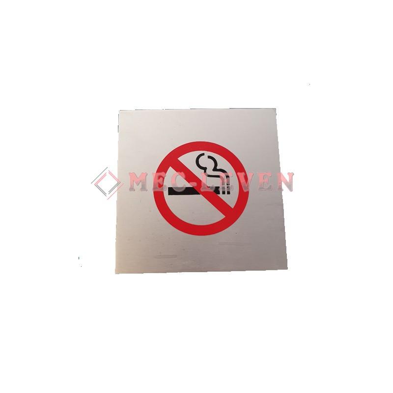 ROTULO ALUMINIO PROHIBIDO FUMAR