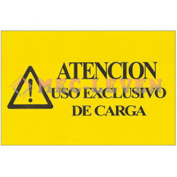 ROTULO ADHESIVO USO EXCLUSIVO DE CARGA