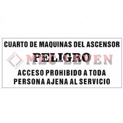ROTULO ALUMINIO PELIGRO CTO. MAQUINAS
