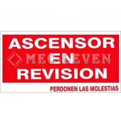 ROTULO PLASTICO ASCENSOR REVISION C/IMANES