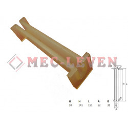 ELEVATOR GUIDE SHOE L-140MM - 10MM GUIDE