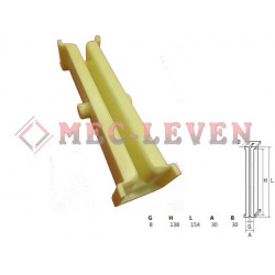 ELEVATOR GUIDE SHOE L-154MM - 8MM GUIDE